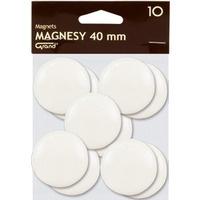 Magnesy 40mm białe(10) 130-1699 GRAND