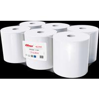 Ręcznik biały CLIVER 130m 1warstwa(6szt) makulatura