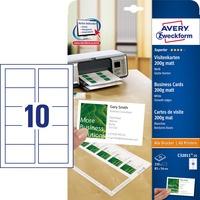 Papier wiz.mat.85*54 C32011-25 Quick&Clean 200g ZF białe AVERY ZWECKFORM