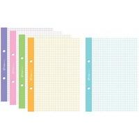 Wkład do segregatora A5 50k kolorowy margines kratka WKDOSEA5F