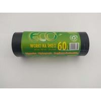 Worki na smieci czarne 60L 20szt/op. LDPE