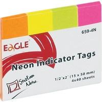 Notes samoprzylepn 15x50 zakładka 4kol. neon 659-4N 150-1244 EAGLE