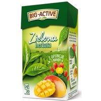 Herbata BIG-ACTIVE zielona (20 torebek) OPUNCJA-MANGO
