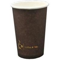 Kubek papierowy 250ml z nadrukiem COFFEE 4 YOU (100) 222