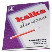 Kalka ołówkowa A4 50 arkuszy fioletowa DELFIN