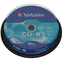 Płyta CD-R VERBATIM CAKE(10) Extra Protection 700MB x52 43437