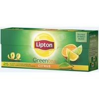Herbata LIPTON GREEN CITRUS 25 torebek zielona