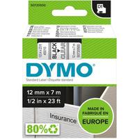 Taśma DYMO D1 12mm czarny/przezroczysta 45010 S0720500