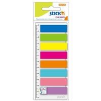 Zakładki indeksujące neon 8x 25szt.+linijka 21345 STICK'N