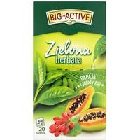 Herbata BIG-ACTIVE zielona ( 20 torebek) PAPAJA-JAGODY GOJI