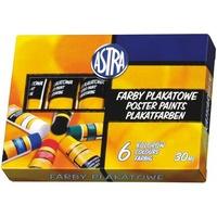 Farby plakatowe 6 kolorów 30ml tuba 83119900 ASTRA