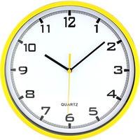 Zegar ścienny plastikowy, 255 mm E01.2478 MPM Żółty