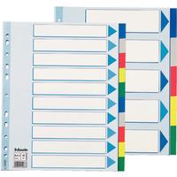 Przekładki plastikowe MAXI z PP ESSELTE 10 kart 15267