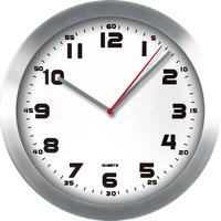 Zegar ścienny aluminiowy, 29, 5cm srebrny z białą tarczą E01.2482 MPM
