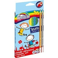 Kredki FIORELLO Super soft 12 kolorów trójkątna 170-2150