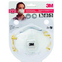 Półmaska filtrująca, ręczne szlifowanie(2)3m z zaworem8812 FFP1 XA004838802