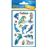 Naklejki tatuaże dla dzieci DELFINKI 56439 Z-DESIGN TATTOO AVERY ZWECKFORM