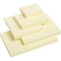 Bloczek samoprzylepny DATURA/NATUNA 75x100 żółty 100 kartek (NS100/75/D)