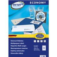 Etykiety ECONOMY A4 białe 38x21.2mm ELA001 AVERY ZWECKFORM
