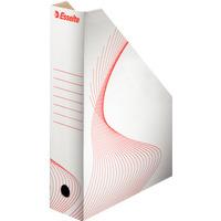 Pojemnik kartonowy na czasopisma 80mm biały ESSELTE 493222