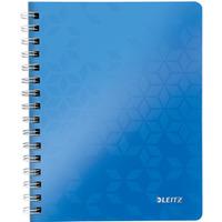 Kołonotatnik LEITZ WOW A5 80k PP kratka niebieski 46410036