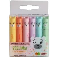 Zakreślacz mini 6 kolorów pastelowych HA 4130 01PA-WP6 Happy Color