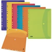 Teczki kopertowe z perforacją kolorowe przez. 6szt ELBA 400099574
