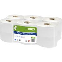 Papier toaletowy biały 100m 2warstwy makulatura(op12szt)ELLIS Ecoline
