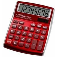 Kalkulator CITIZEN CDC-80RDWB czerwony
