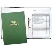 Teczka do akt osobowych z zamkiem zielona zadruk.1824-339-028 WARTA