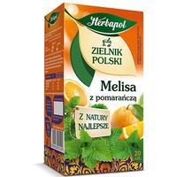 Herbata HERBAPOL ZIELNIK MELISA Z POMARA. 20t