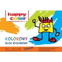 Blok rysunkowy HAPPY COLOR kolor A4 15ark. HA 3708 2030-09