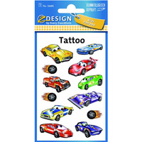 Naklejki tatuaże dla dzieci AUTA 56685 Z-DESIGN KIDS TATTOO AVERY ZWECKFORM