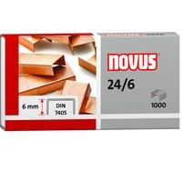 Zszywki miedziowane 24/6 1000szt NOVUS 040-0206