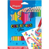 Kredki trójkątne MAPED COLORPEPS 36 kolorów 832017 832017
