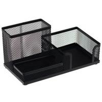 Przybornik na biurko DATURA/NATUNA siatka czarny 205x103x98mm