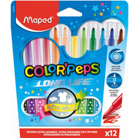 Flamastry 12kolorów COLORPEPS 845020 MAPED