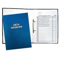 Teczka do akt osobowych z zamkiem niebieska zadruk.1824-339-063 WARTA