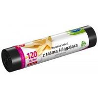 ####Worki na śmieci ekologiczne 120L 5szt.z taśmą (LDPE) STELLA WNS-4263