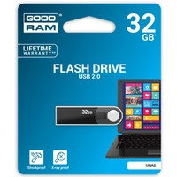 Pamięć#USB GOODRAM 32GB URA2 BLACK USB 2.0 URA2-0320K0R11