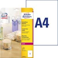Etykiety przezroczyste 210x297mm(25 ark) L7784-25 do drukarek laser color AVERY ZWECKFORM