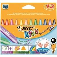 Kredki świecowe PLASTIDECOR TRIANGLE 12 kolorów 8297732 BIC