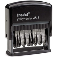 Datownik PRINTY 4816 ISO podwójny TRODAT czcionka 3.8mm samotuszujacy