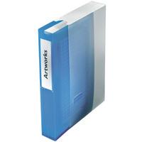 Segregator ringowy na 48 płyt CD/DVD niebieski 67083 ESSELTE