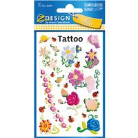 Naklejki tatuaże dla dzieci KWIATKI 56691 Z-DESIGN KIDS TATTOO AVERY ZWECKFORM