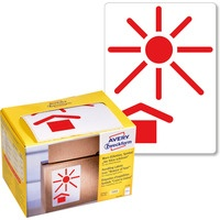 Etykiety ostrzegawcze Chronić przed nagrzewaniem AVERY ZWECKFORM 7253