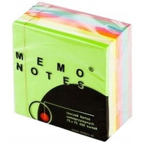 Kostka MEMO 75*75/400kar.pastel DALPO 4kol.mix
