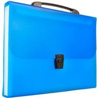 Teczka A4 harmonijkowa PP 13przegródek z rączką niebieska BT623-N TETIS