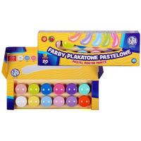 Farby plakatowe pastelowe 12 kolorów 301118001 ASTRA