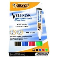 Marker VELLEDA 1704/1701MIX (4) okr.BIC 904941/1199001704